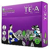 S P R I G Té verde TE.A con Tulsi |Té verde totalmente soluble |Equilibre usted mismo con este tónico para el bienestar |Ingredientes de salud ancestrales para la inmunidad |Paquete de 25