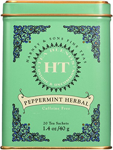 Harney and Sons Peppermint, Caffeine-Free Herbal 20 Sachets per Tin (1.4 Oz)
