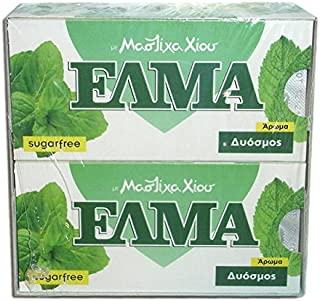 Chios Elma Mastic Gum Spearmint Flavor 20x10 Pieces / 20x14gr - From 100% Fresh Original Xios (Masticha or Mastixa)