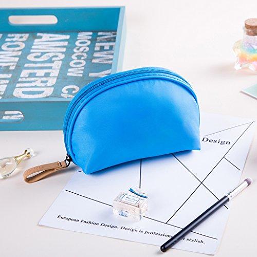Sac de rangement de sac cosmétique petite capacité voyage portable portable mini dames simple paquet de maquillage en option multicolore,Blue
