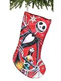 Kurt Adler 19' Nightmare Before Christmas Jack & Sally Satin Stocking Standard