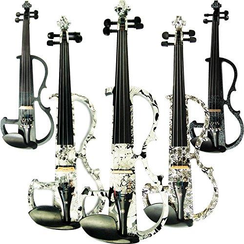 Aliyes Handmade professionale Silent professionale legno massello Student violino violino elettrico 4/4completo per principianti violino string kit, spalliera, colofonia, DSG-1310