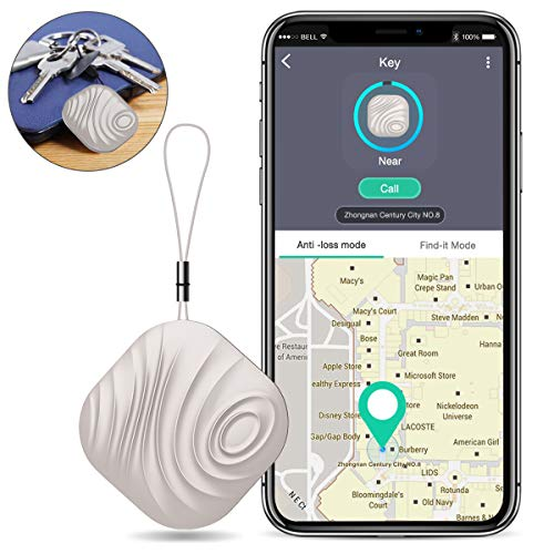 BEBONCOOL Schlüsselfinder, Key Finder Kompatibel mit iOS/Android, Schlüssel Finder mit Bidirektionalem Alarm/Silent Mode, Multifunktionaler NUT Keyfinder, Smart One Touch Find Schlüsselfinder GPS