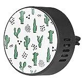 Josid 2PCS Cactus e Elementi Astratti Auto Deodorante Auto Deodorante Diffusore di Aromaterapia Auto Clip Regalo Decorazioni 40 mm