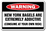 SignMission New York Bagels Warning Decal Shop Restaurant Deli Fresh hot Bakery