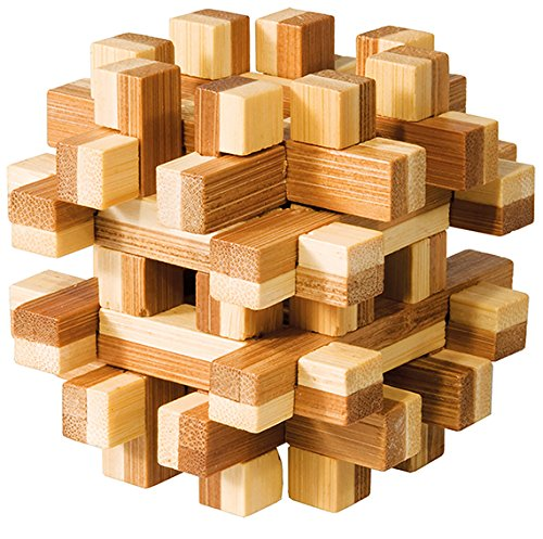 "Fridolin 17493 IQ-Test"" Bamboo Puzzle ""Magic Blocks"""