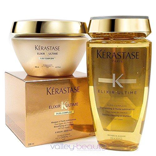 KERASTASE Bain Elixir Ultime Shampoo 250ml + Masque Elixir Ultime Mask 200ml by Keratsase