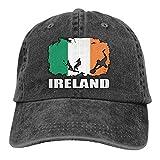 LLeaf Irlande Drapeau Football Joueur de Rugby Hommes Femmes Casquettes de Baseball réglables Denim Jeanet Casquette Unie