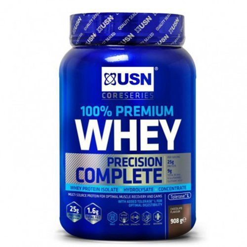 USN 100 Percent Whey Protein Chocolate 908 g: Muscle Building and Recovery Whey Isolate Protein Powder