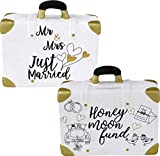 Topshop24you Preciosa hucha, hucha, caja de boda, caja de boda, luna de miel, caja de luna de miel.