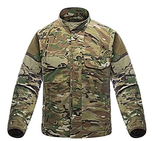 DDSP Camisa militar camuflaje camisetas camisas de pesca hombres impermeable secado rápido camisas de manga larga camisas del ejército al aire libre chaqueta uniforme táctico (Color : CP, Size : XL.)