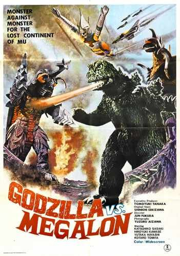 Godzilla Vs Megalon Poster 02 Photo A4 10x8 Poster Print