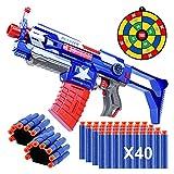 Vintoney Automatic Blaster Toy Gun, Multiple Modes DIY Toy Guns, Foam Blaster Shooting Gun with 40 Soft Darts, 1 Gun Target, 2 Hand Wrist Band, Best Gifts for Kids
