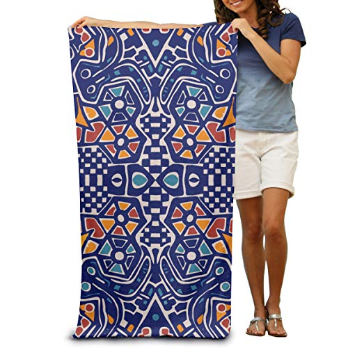 Sunny R Toallas de Playa Personalizadas para Adultos Toallas de Baño de Microfibra con Motivos de Mosaico de Arabescos para Viajes de Playa a la Piscina