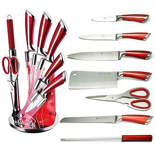 Bloc couteaux bordeaux 8 pièces impérial collection