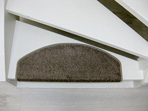 15 Tappeti per scalini - passatoie per singoli gradin San Jose 65x24x4cm rosso, grigio, beige, marrone (Marrone)