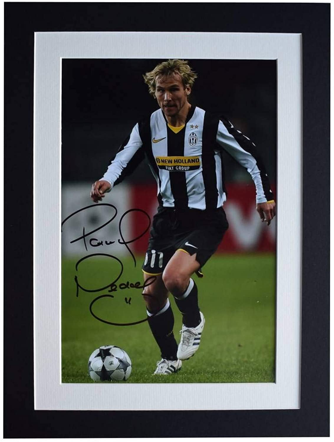 Sportagraphs Pavel Nedved Signed autograph 16x12 photo display Juventus Football COA