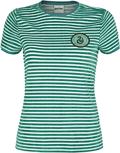 Harry Potter Slytherin Frauen T-Shirt grün/weiß XXL