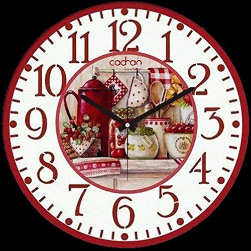 Lznxzq Diamond Painting DIY 5D Kits de Pintura de Diamantes Taladro Completo Cristal,Reloj Cesta de Frutas, Diamantes de imitación de Diamante Bordado, Manualidades para decoración de Pared