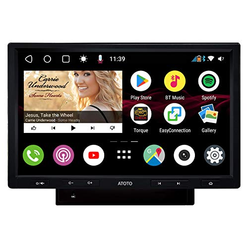 [Display 10 in QLED] ATOTO S8 Premium S8G2103M,Video navigazione(senza DVD) Android integrati nel cruscotto, 2 Bluetooth con aptX, Connessione telefonica,Parcheggio VSV,Supporto 512GB SD e altro