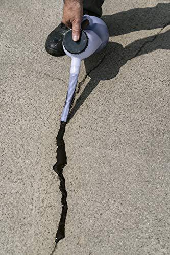 Watco Répar'fissure reboucheur souple pour réparer les fissures des sols en asphalte bitume, 5L noir