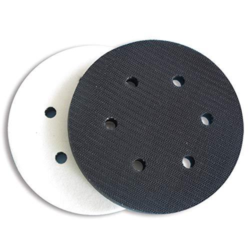 Almohadilla de interfaz de esponja suave para almohadillas de lijado de 150 mm de diámetro (6 agujeros)