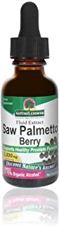 Nature's Answer Saw Palmetto Berry Extract Herbal Supplement with Organic Alcohol, 1-Fluid Ounce | Supports Prostate Healt...