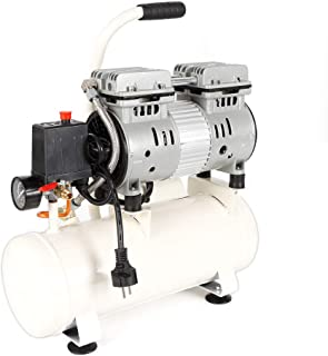 Compresor, taller de compresores de aire, móvil, 680W, motor de inducción, silencioso Aire comprimido silencioso sin necesidad de mantenimiento de aceite 220V, tanque de 12L, volumen de escape de 116L