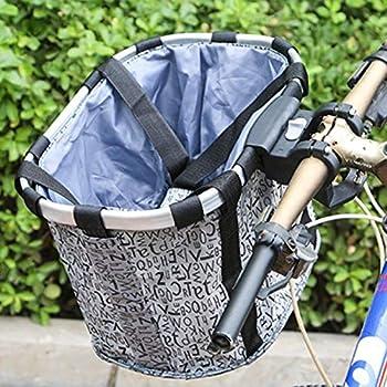 Panier Velo Chien - Panier De Vélo Amovible/Chien Panier De Vélo Panier De Guidon De Vélo Pliant Petit Animal De Compagnie Chat Chien Transporteur Sac De Vélo Panier
