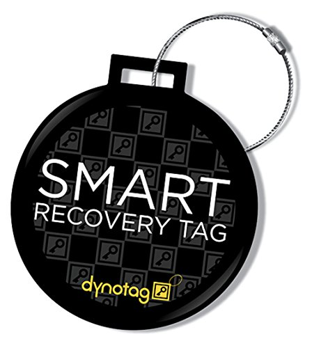Dynotag Web Enabled QR Smart Deluxe Steel Luggage Tag