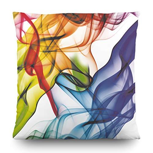 AG Design 1 Coussin avec Housse Décorative, Microfibre, Multicolore, 45 x 45 cm