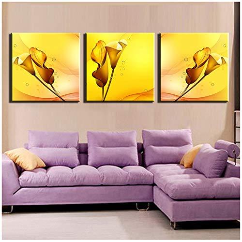 Canvas Schilderij Canvas Schilderij 3 stks Muur Afdrukken Voor Home Decor Ideeën Schildert Foto Kunstwerk Schilderij 20x20cm (7.8