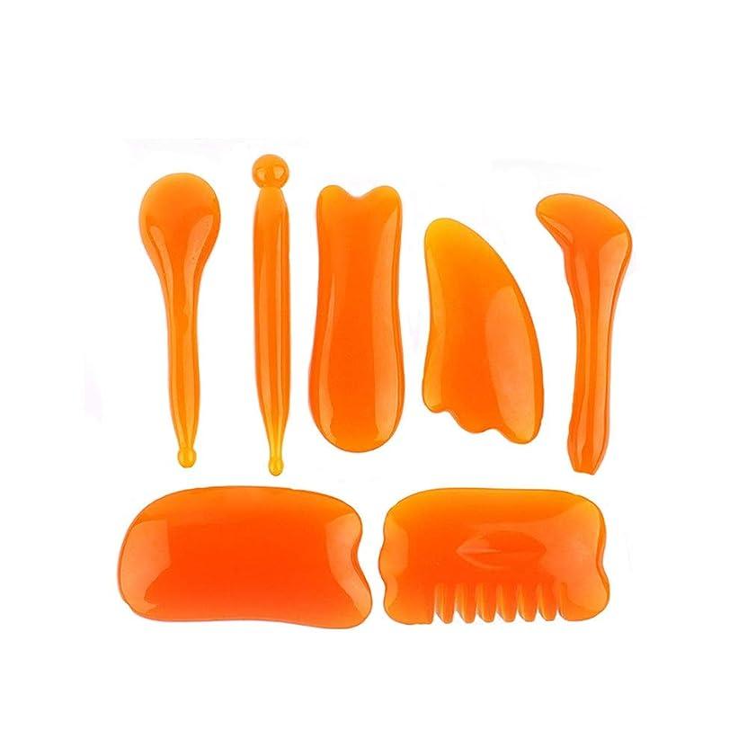 副詞ジャニスアニメーション樹脂製の蜜ろうで作られたマッサージツール - こするマッサージボード小さなシェービングネックウエストマッサージフェイスリブ - アイバッグ/ふくらんでいるスキン/アンチエイジング/テンションに最適