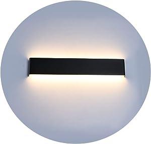 Ralbay 20W LED Wall Sconce Lighting 24 inch Warm White 2700~3200K Vanity Lights Black for Bathroom Bedroom Corridor Stairs Modern Vanity Light Fixtures 2600LM