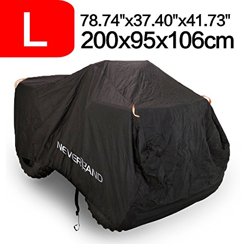 NEVERLAND Waterproof 210D Oxford ATV Quad Cover Wheel Car Black 78 x 37 x 41 Inch