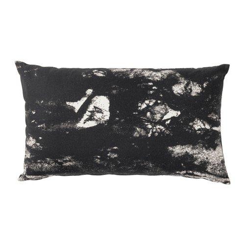 Ikea Funda de cojín, Color Negro, Blanco, 40,64 x 66,04 cm, 30214.11229.85