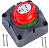 Battery Disconnect Switch 12V 24V 48V 60V Battery Master Cut Off Isolator Switch Waterproof for Marine Boat Auto Camper...