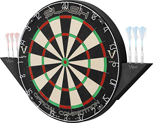 Viper Slash Official Competition Bristle Steel Tip Dartboard Set with StapleFree UltraThin Metal Wiring to Increase Score SelfHealing ProfessionalGrade African Sisal Board Magnetic Dart Holders