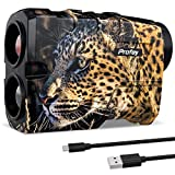 Profey Hunting Rangefinder, 1000 Yards Rechargeable Laser Range Finder for Shooting, 6X Magnification Rangefinder for Bow Hunting, with Angle/Horizontal Distance/Scan, Carrying Case