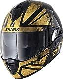 Shark Casque moto EVOLINE 3 TIXER KUQ, Noir/Or, M