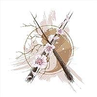 ウォールステッカー 飾り 30×30cm シール式 装飾 おしゃれ 壁紙 はがせる 剥がせる カッティングシート wall sticker 雑貨 ガラス 窓 DIY プチリフォーム パーティー イベント 賃貸 ラグジュアリー クール 和風 和柄 花 フラワー 006138