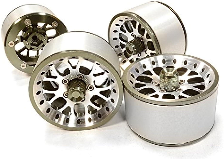 Integy RC Model Hop-ups C26161GUN High Mass 2.2 Größe Alloy Y14 Spoke Beadlock Wheel (4) for Scale Off-Road Crawler