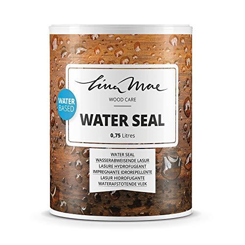 Wasserabweisende Lasur (Lack) mit Satinierung Oberfläche Wasserbasiertem - Wasserdichter Schutz mit Perleffekt.Ideal für Holz: Möbel, Tische, Stühle, Pergolen und Fenster (750 ml, Farblos)