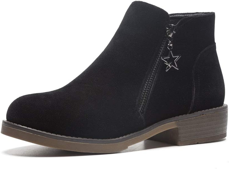 AdeeSu Womens Travel Solid Zip Urethane Boots SXC02900