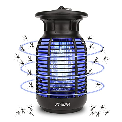 ANEAR Electric Bug Zapper, Waterproof Mosquito Killer Insect Killer with 3100V UV Lamp Mosquito Zapper Trap - Mosquito,Fly,Moth,Wasp,Beetle & Other Pests Killer for Backyard,Patio,Indoors & Outdoors