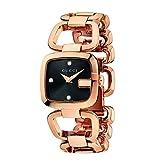 Gucci G GUCCI - Reloj de Cuarzo para Mujer, con Correa de Acero Inoxidable Chapado, Color 0