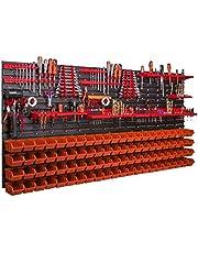 Gereedschapswand 1728 x 780 mm stapelboxen gereedschapshouder wandplaat houderrails garage magazijn werkplaats hobby