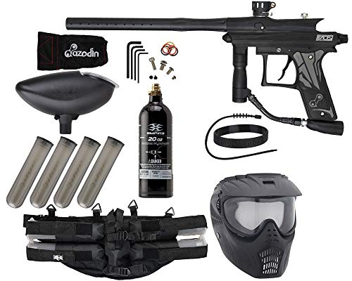 Action Village Azodin KAOS 3 Paintball Gun Epic Package Kit (Dust Black with Dust Black Parts)