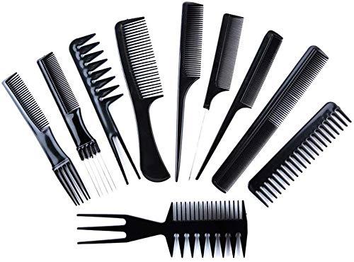 Styling Comb Set - 10pcs Peluquería profesional Peine de fibra de carbono Salon Hair Styling Peluquería Peluquería Combs conjunto