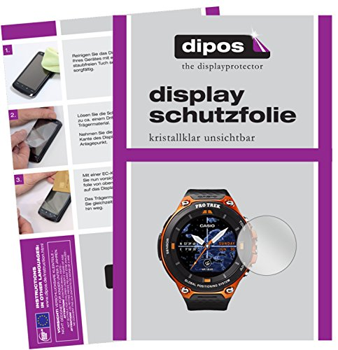 dipos I 6X Schutzfolie klar kompatibel mit Casio WSD-F20 Folie Bildschirmschutzfolie